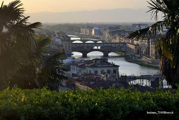 Veduta Firenze Ponte Vecchio